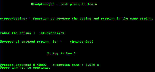 write a c program to reverse a string without using string functions