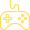 Yellow color Game Console Logo