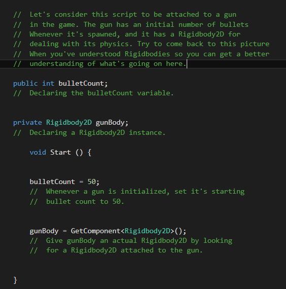 Adding A C# Script To Our Unity Game Project