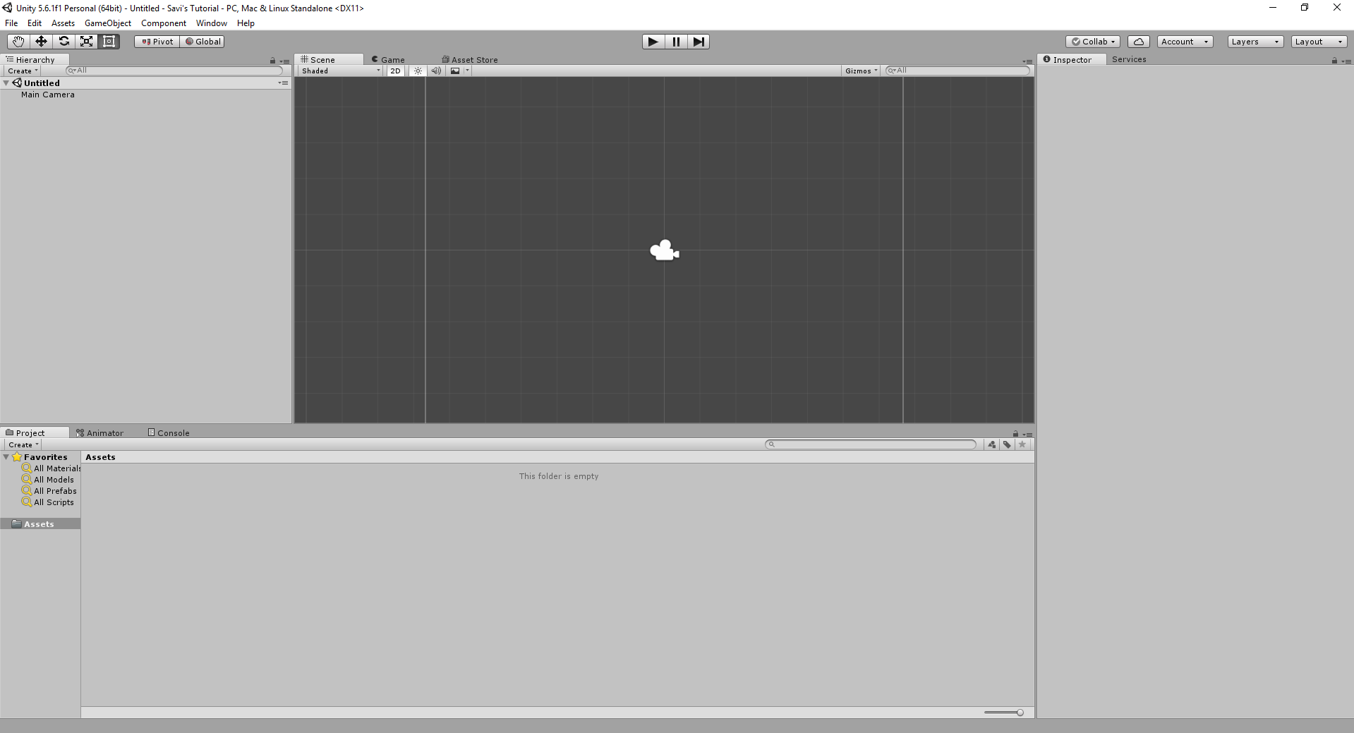 Creating first project with unity 3d studytonight steps to create project in unity engine baditri Choice Image