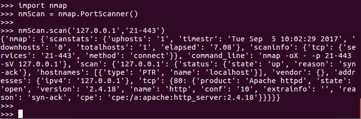 Using Nmap Port Scanner with Python | Studytonight