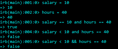 Logical And Operator in Ruby