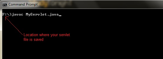 التعامل مع Java Servlets Compile-servlet