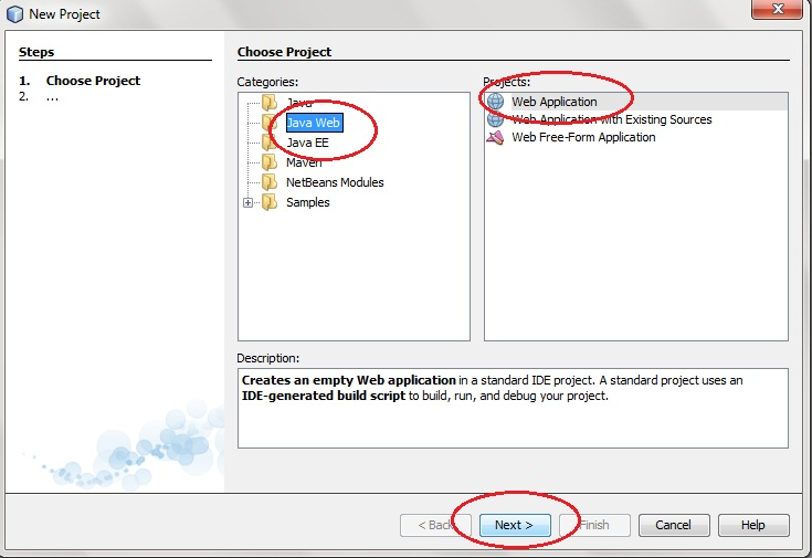 التعامل مع Java Servlets Steps-to-create-servlet-application-in-netbeans1