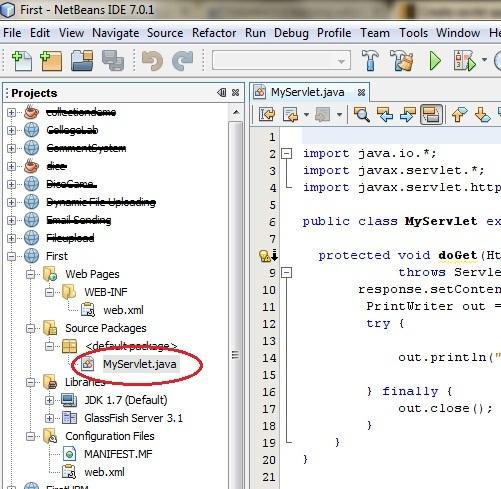 التعامل مع Java Servlets Steps-to-create-servlet-application-in-netbeans4_3