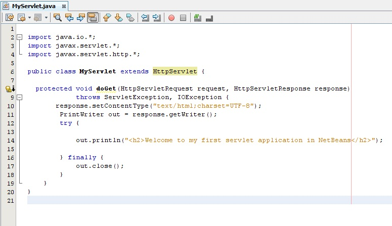Creating First Servlet Application in Netbeans IDE